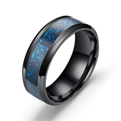 Men's Band Ring Light Blue Silver-Blue Gold Stainless Steel Titanium Steel Asian Vintage Gift Daily Jewelry Dragon Magic - FLJ CORPORATIONS