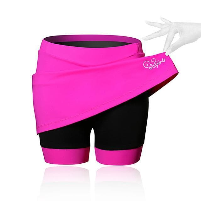 21Grams Women's Cycling Skirt Bike Shorts / Skirt / Padded Shorts / Chamois Breathable, 3D Pad Solid Colored, Patchwork, Classic Spandex Black / Blue / Pink Advanced Mountain Cycling Semi-Form Fit - FLJ CORPORATIONS