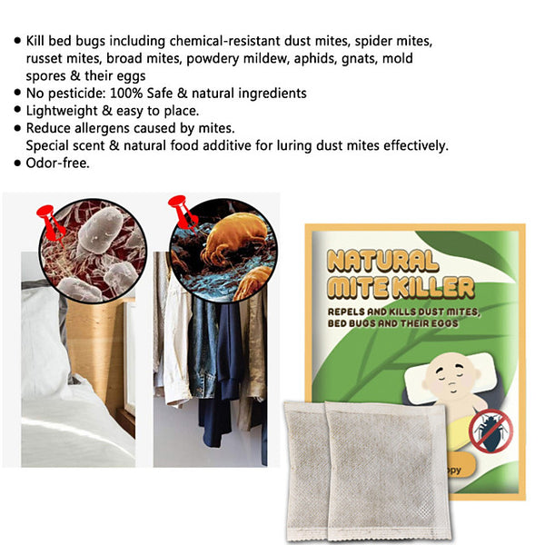 Acarid removing pad anti acarid removing pad sticking on the bed domestic natural plant acarid removing 6pcs - FLJ CORPORATIONS