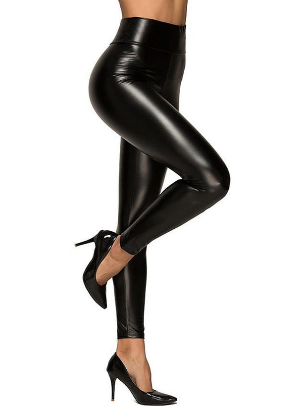 Women's Basic Streetwear Daily Tights Pants Solid Colored Outdoor Black S-3XL / Skinny