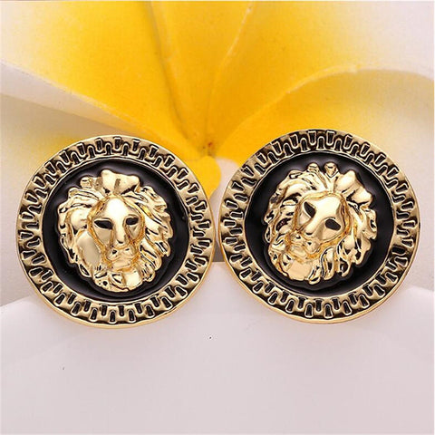 Hoop Earrings Classic Fashion Stylish Gold Plated Earrings Jewelry Gold For Gift Festival 1 Pair - FLJ CORPORATIONS