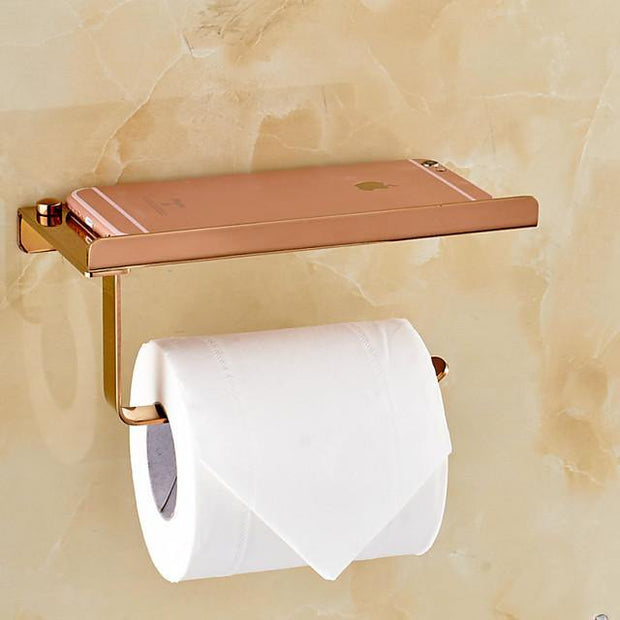Toilet Paper Holders Contemporary Brass 1 pc - Hotel bath