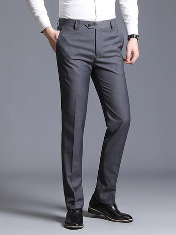 Men's Basic Slim Dress Pants Pants - Solid Colored Wine Black Blue US32 / UK32 / EU40 / US34 / UK34 / EU42 / US36 / UK36 / EU44 - FLJ CORPORATIONS