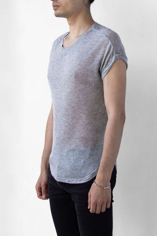 BEAU AIR T-SHIRT- SMOKE