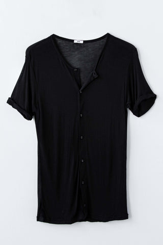 BEAU AIR BUTTON UP TEE - NIGHT