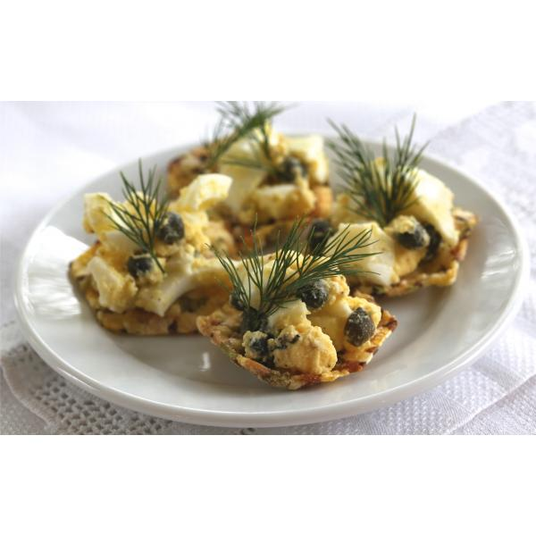 Egg And Caper Salad Bean Crisp Toppers