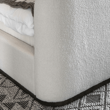 Load image into Gallery viewer, Avery textured upholstered cream bed