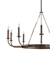 Load image into Gallery viewer, Berlin Hollywood Regency Steel Round Candle Chandelier