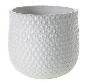 Ginny Bubble Textured Ceramic Pot Large