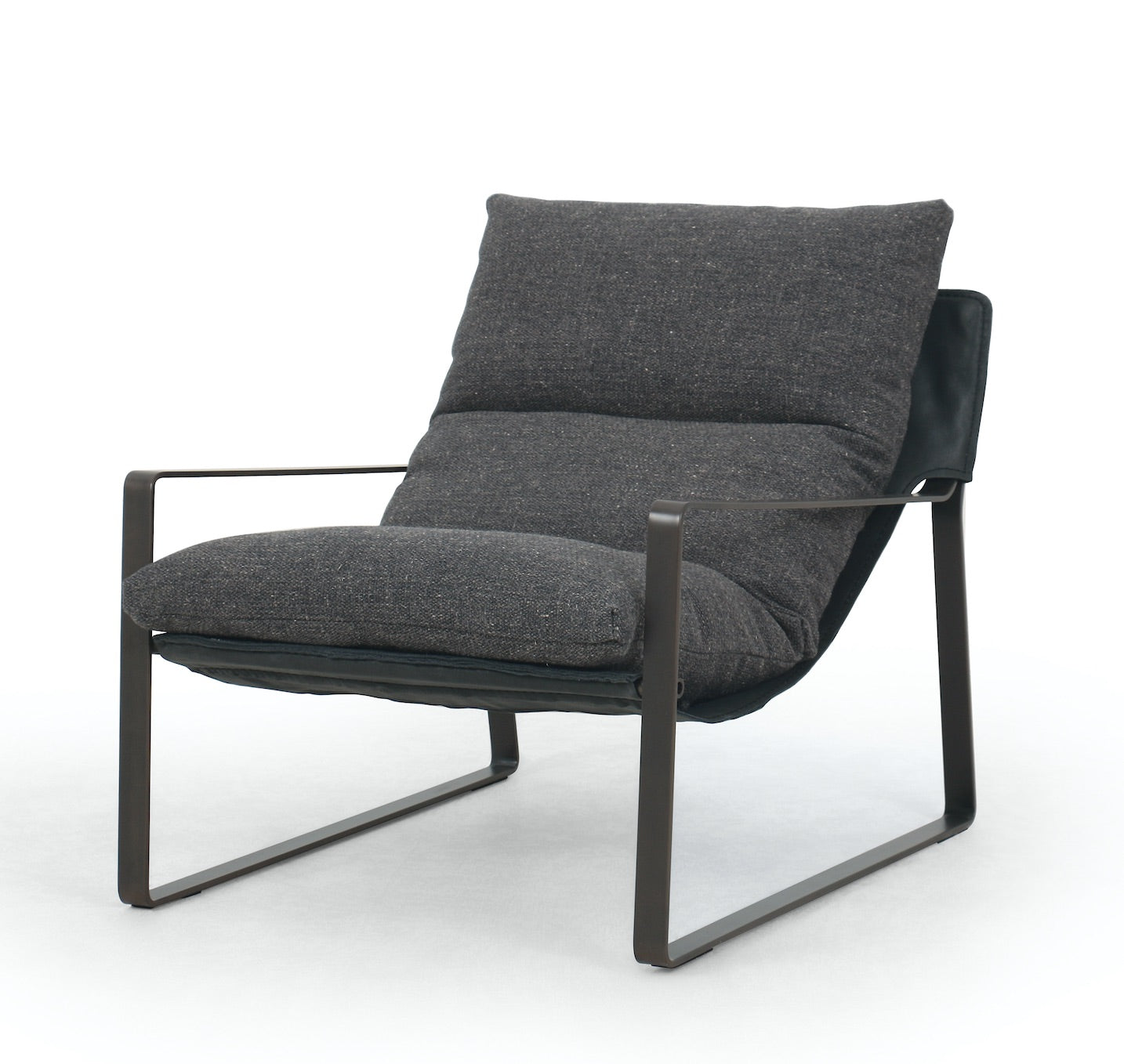 Emmet Industrial Metal Frame Sling Chair