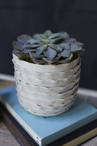 Artsi Ceramic Textured Vase Pot