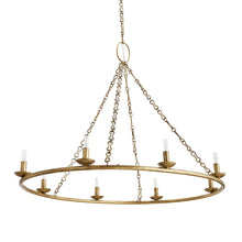 Load image into Gallery viewer, Denison Antique Brass Oval Iron Frame Chandelier