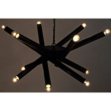 Load image into Gallery viewer, Lex Abstract Black Metal Chandelier