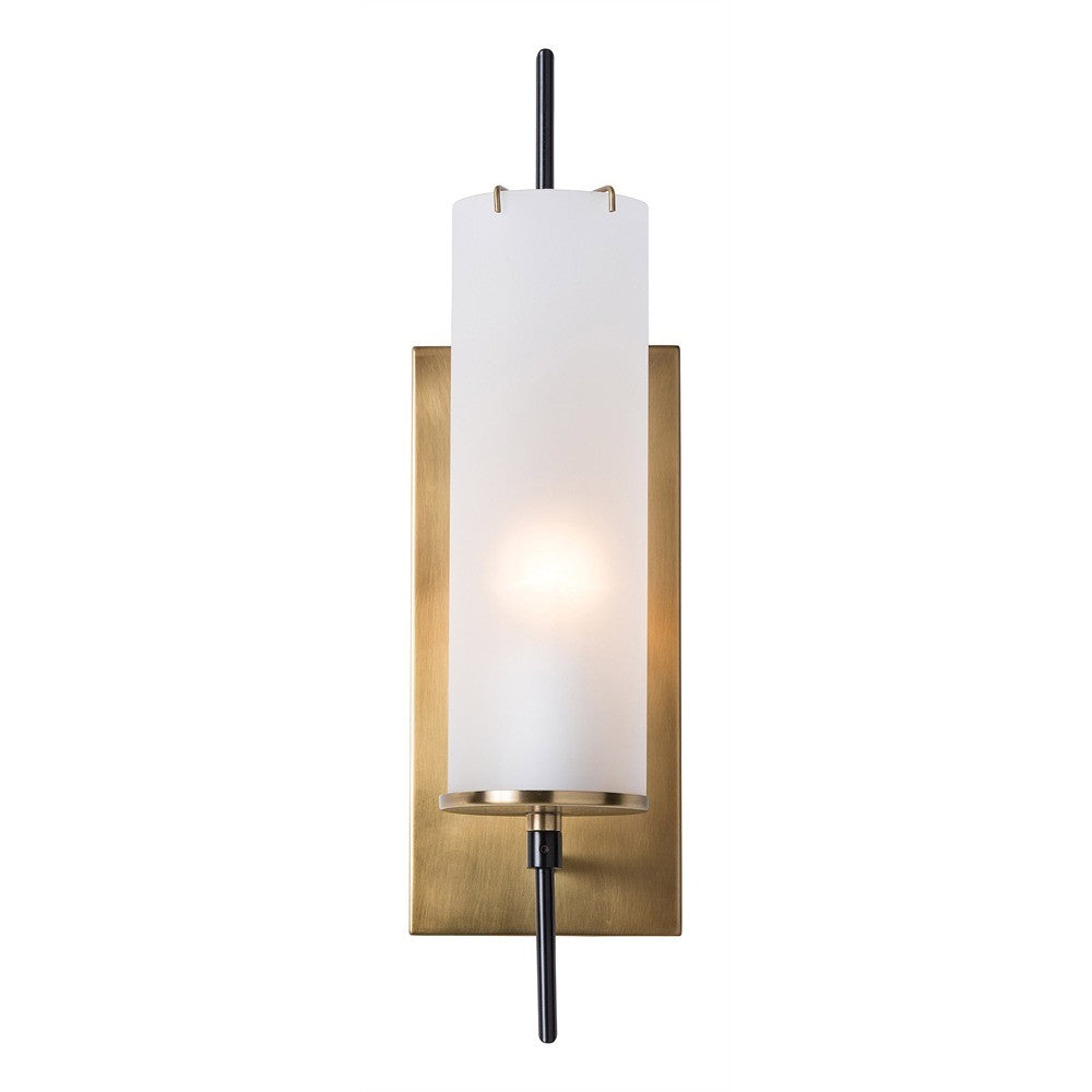 Stefan Frosted Glass Single Sconce