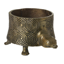 Load image into Gallery viewer, Tommie The Turtle Short Metal Pot