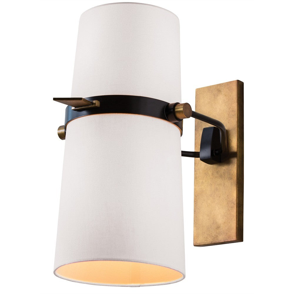 Yasmin Perforated Bronze Shade Sconce
