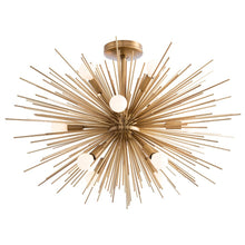 Load image into Gallery viewer, Zanadoo Starburst Frosted Globe Fixed Chandelier