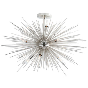 Zanadoo Starburst Frosted Globe Fixed Chandelier