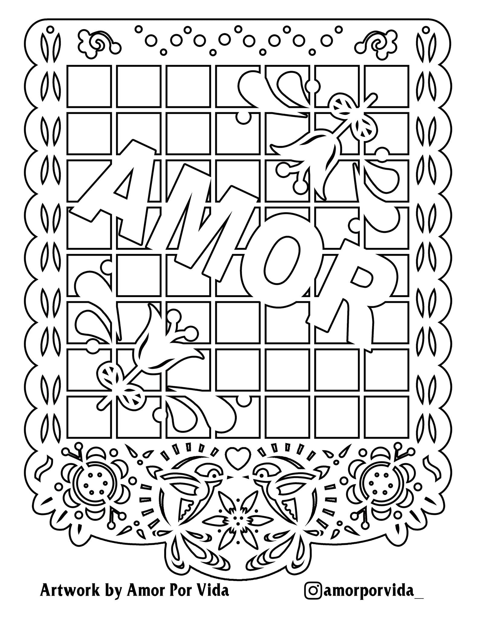 Amor Coloring Page