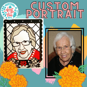 Custom Framed Papel Picado Portrait