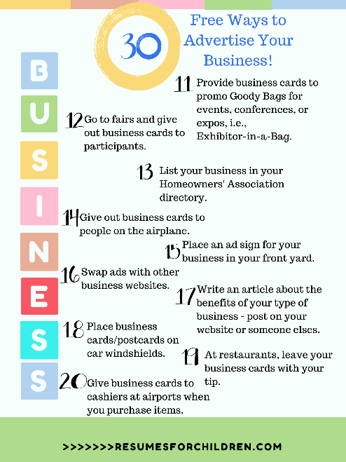 30 FREE Ways to Advertise Your Business
