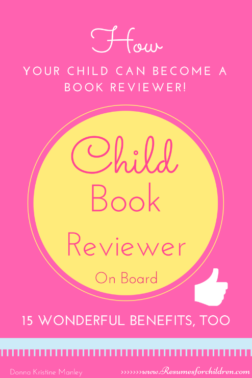 How Your Child Can Become a Book Reviewer (e-book, 9 pages, PDF)