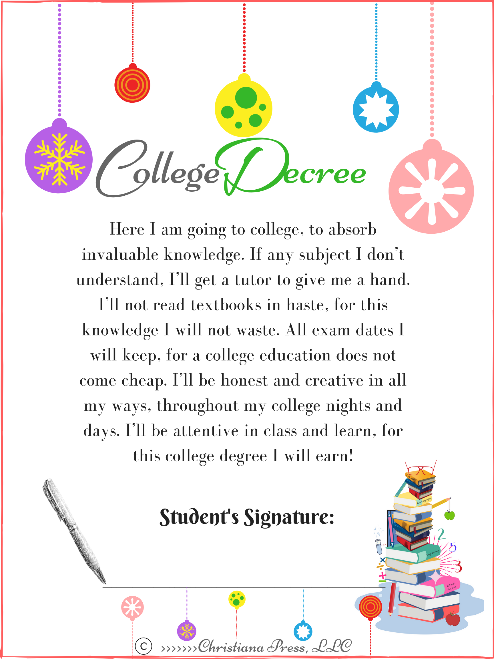 College Decree, Poster - 1 (PDF - 8.5 X 11 inches)