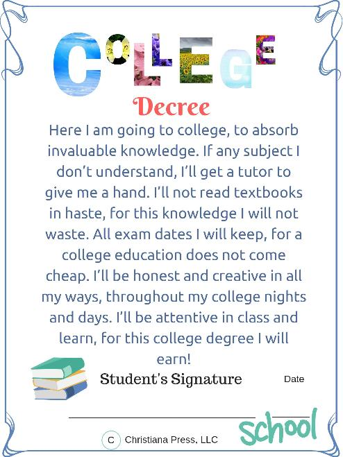 College Decree, Poster - 3 (PDF - 8.5 X 11 inches)