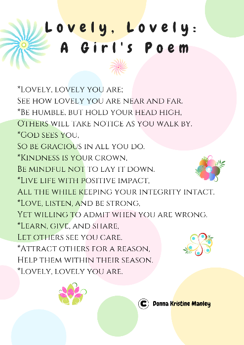 Lovely, Lovely: A Girl's Poem, Poster