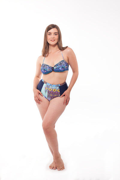 Bahia bottoms in Abstract print -  For those who love vintage swimsuits and retro-inspired swimwear