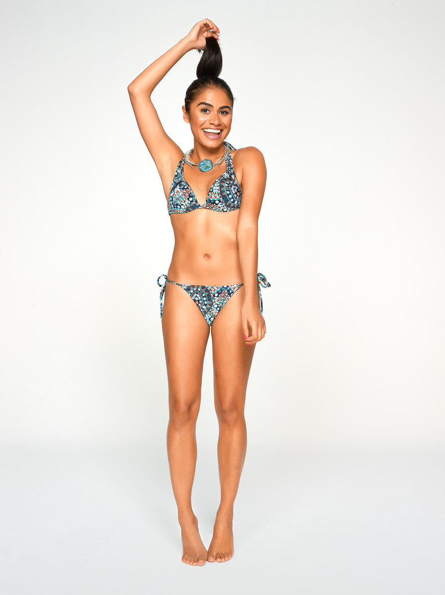 Iara top in Pearl Print- A timeless and elegant bikini top with a little extra push-up