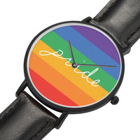 Leather pride wrist watch