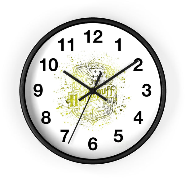 Wall clock Harry Potter Hufflepuff