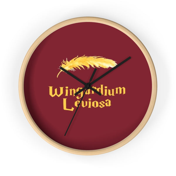 Wall clock Harry Potter Wingardium leviosa