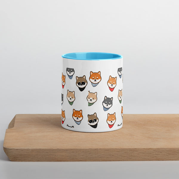 Shiba Mug with Color Inside tazza