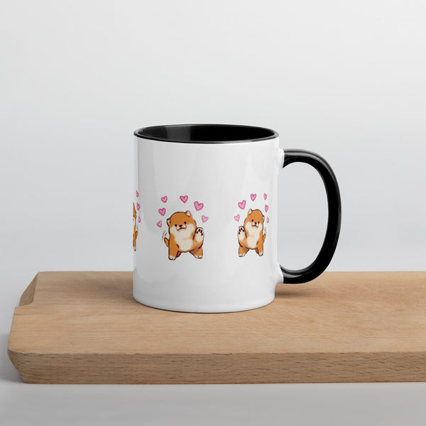 Mug with Color Inside Shiba cuori
