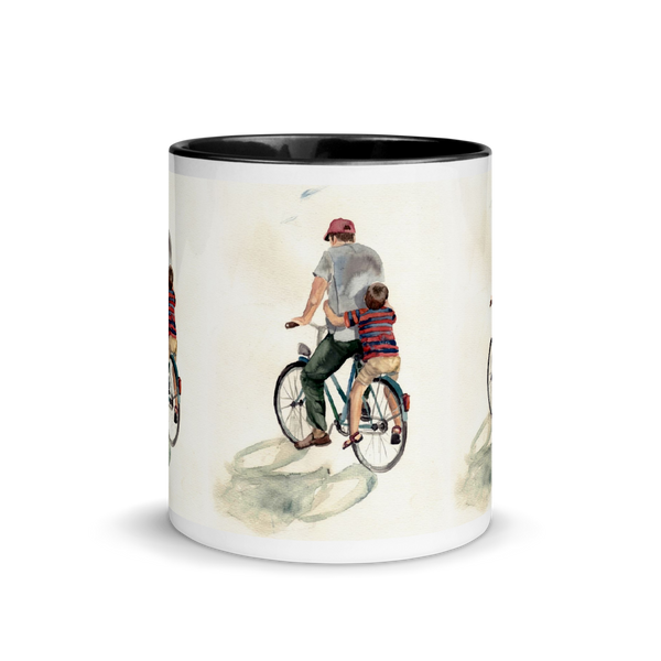 Mug with Color Inside Dad & Child