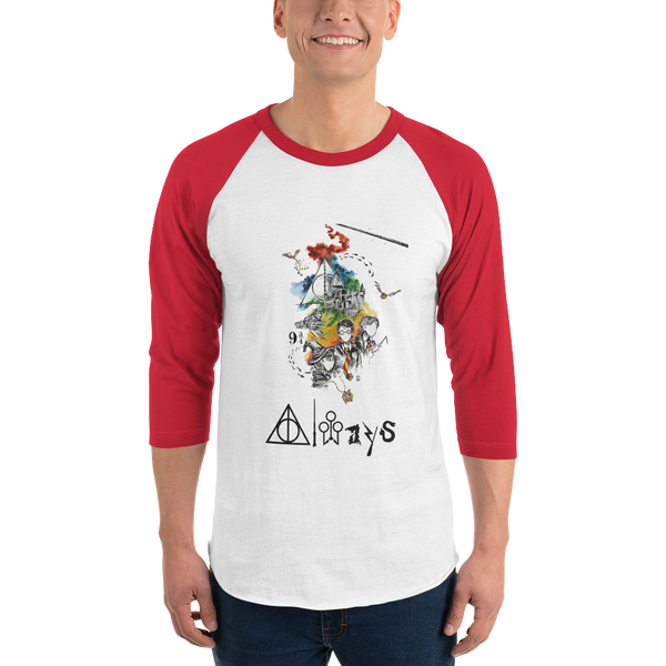 3/4 sleeve raglan shirt Harry potter always