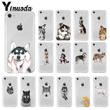 Animal Wolf Husky Dog Puppy TPU Soft High Quality Phone Case