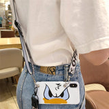 Cute Cartoon Lanyard crossbody Phone Case