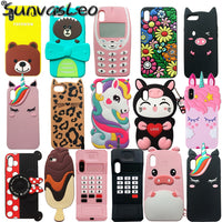 Cartoon Animal Soft Silicone Case Cell Phone Back Cover Skin Shell Shockproof