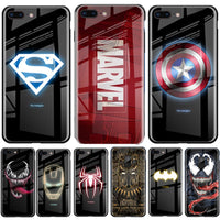Captain America Luminous Marvel Tempered Glass Case