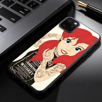 Coque Spoof Fool Funny Tattoo Alice Ariel All Princess Case
