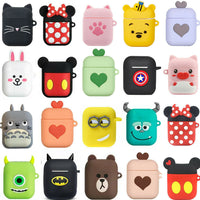 3D Cute Cartoon Earphone Case Soft Silicone Doll Case For Apple Airpods
