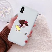 Cute Mini Princesses Mermaid Belle Snowwhite Coque Soft Phone Case Covers