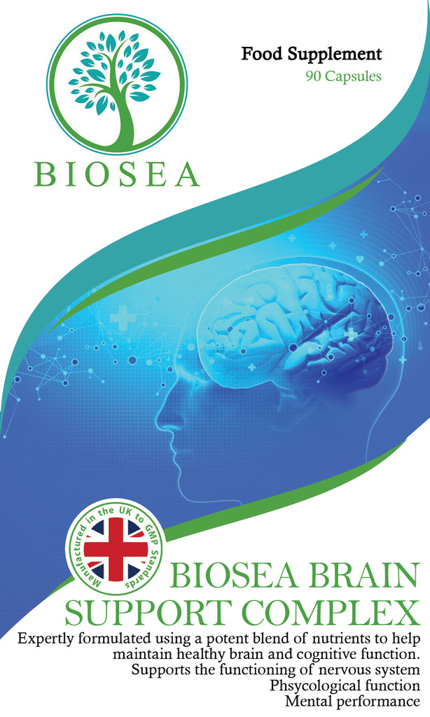 Biosea Brain Support Complex, Mind Booster, Brain Supplement For Men & Women