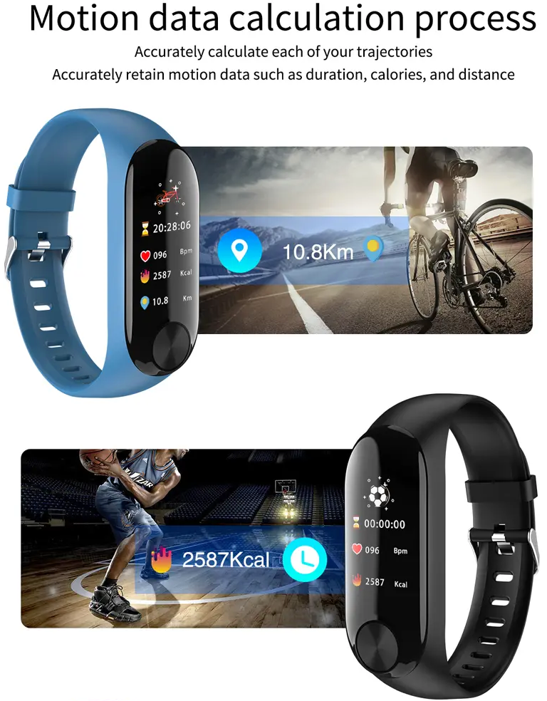 BodyTrackr Y10 Heart Rate & Blood Pressure Smart Watch