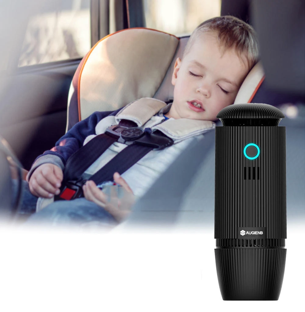 HEPA Car Air Purifier USB Negative Ion Purification PM 2.5 and Oil Aroma Diffuser 2-in1