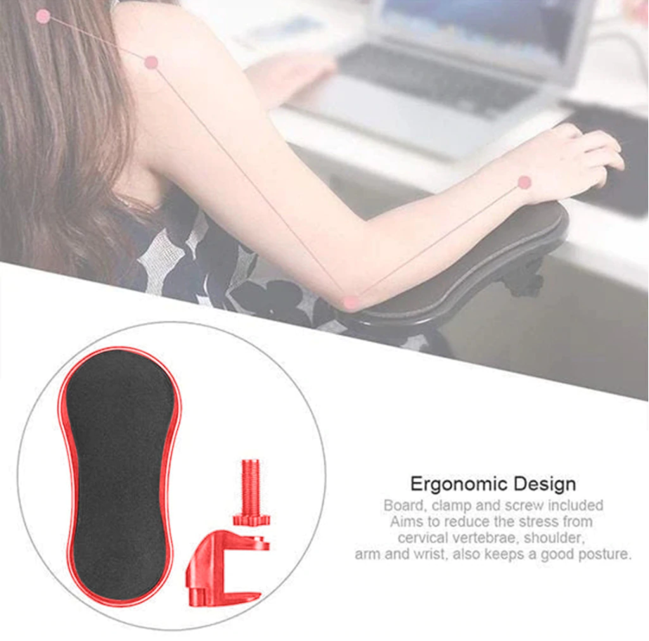 Attachable Arm Support & Wrist Rest For Office Desk/Computer Desk
