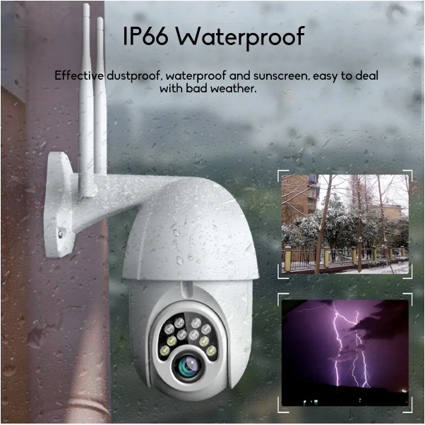 GUUDGO 1080P Waterproof Night Vision Wireless Wifi Security Camera With 5X Zoom and 320 Degree Rotation